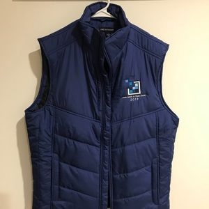 Navy Blue Port Authority Puffer Vest